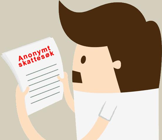 søk i skattelistene anonymt, mann som leser resultatet